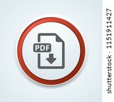 pdf download button illustration | Shutterstock .eps vector #1151911427