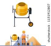 concrete mixer  vector... | Shutterstock .eps vector #1151912807