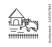 vector icon for ranching   Shutterstock .eps vector #1151917841