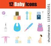 baby icon set. color  design....   Shutterstock .eps vector #1151921051