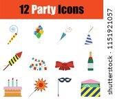 party icon set. color  design....   Shutterstock .eps vector #1151921057