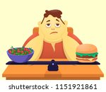 a funny cartoon character is...   Shutterstock .eps vector #1151921861