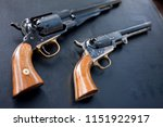 old pistol during cleaning  | Shutterstock . vector #1151922917