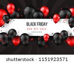 black friday sale poster with... | Shutterstock .eps vector #1151923571