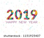 2019 happy new year greeting... | Shutterstock .eps vector #1151925407