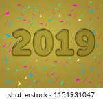 2019 crystallised text effect...   Shutterstock . vector #1151931047