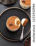 delicious italian dessert... | Shutterstock . vector #1151933984