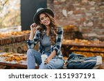 interested lady with elegant... | Shutterstock . vector #1151937191