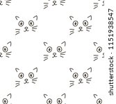 seamless patterns with cats... | Shutterstock .eps vector #1151938547