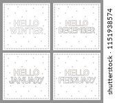 winter coloring pages with hand ... | Shutterstock .eps vector #1151938574