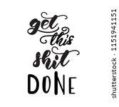 lettering poster for bathroom.... | Shutterstock .eps vector #1151941151
