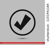 confirm icon  stock vector... | Shutterstock .eps vector #1151941184