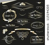 gold decorative elements with
