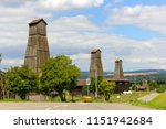 vintage derricks in bad zurzach ... | Shutterstock . vector #1151942684