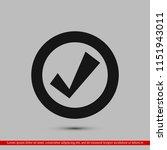 confirm icons  stock vector... | Shutterstock .eps vector #1151943011
