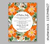 floral winter wreath vector... | Shutterstock .eps vector #1151948627