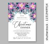 floral winter wreath vector... | Shutterstock .eps vector #1151949914