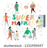people characters shopping in...   Shutterstock .eps vector #1151950457