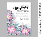 peony fir christmas party... | Shutterstock .eps vector #1151952431