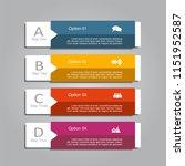 infographic design template...   Shutterstock .eps vector #1151952587