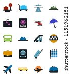 color and black flat icon set   ... | Shutterstock .eps vector #1151962151