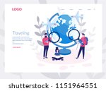 traveling concept for web page  ... | Shutterstock .eps vector #1151964551
