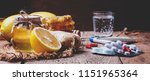 choose between drugs for colds... | Shutterstock . vector #1151965364