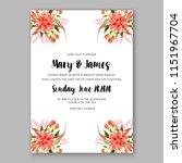 floral wedding invitation... | Shutterstock .eps vector #1151967704