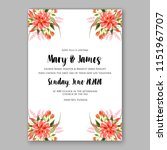 floral wedding invitation... | Shutterstock .eps vector #1151967707