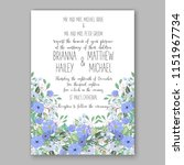 floral wedding invitation... | Shutterstock .eps vector #1151967734