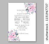 floral wedding invitation... | Shutterstock .eps vector #1151967737