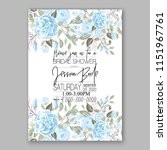 floral wedding invitation... | Shutterstock .eps vector #1151967761