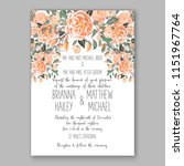 floral wedding invitation... | Shutterstock .eps vector #1151967764