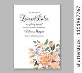 floral wedding invitation... | Shutterstock .eps vector #1151967767