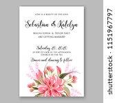 floral wedding invitation... | Shutterstock .eps vector #1151967797