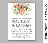 floral wedding invitation... | Shutterstock .eps vector #1151967827