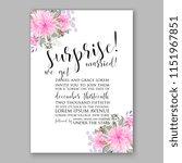 floral wedding invitation... | Shutterstock .eps vector #1151967851