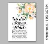 floral wedding invitation...   Shutterstock .eps vector #1151967854