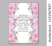floral wedding invitation... | Shutterstock .eps vector #1151967857
