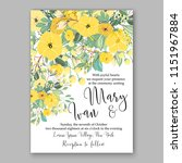 floral wedding invitation...   Shutterstock .eps vector #1151967884