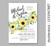 floral wedding invitation... | Shutterstock .eps vector #1151967887