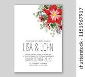 floral wedding invitation... | Shutterstock .eps vector #1151967917