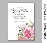 floral wedding invitation... | Shutterstock .eps vector #1151967941