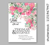 floral wedding invitation... | Shutterstock .eps vector #1151967947