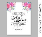 floral wedding invitation... | Shutterstock .eps vector #1151967974