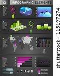 infographic graph element | Shutterstock . vector #115197274