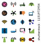 color and black flat icon set   ... | Shutterstock .eps vector #1151972954