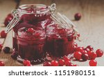 delicious cranberry jam in... | Shutterstock . vector #1151980151