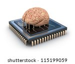 Human Brain And Computer Chip ...