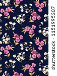 cute floral pattern in the... | Shutterstock .eps vector #1151995307